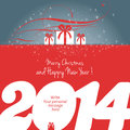 Merry christmas and happy new year card vector Royalty Free Stock Images