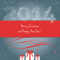 Merry christmas and happy new year card vector Stock Images