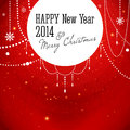 Merry christmas and happy new year card vector illustration Royalty Free Stock Photos
