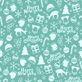 Merry Christmas and Happy New Year 2017. Christmas season hand drawn seamless pattern. Vector illustration. Doodle style