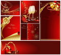 Merry Christmas and Happy New Year collection Royalty Free Stock Photography