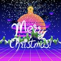 Merry Christmas and Happy New Year congratulation card Royalty Free Stock Photo