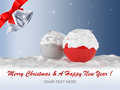 Merry christmas and a happy new year d render of greeting card Royalty Free Stock Image