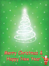 Merry christmas and happy new year green background Royalty Free Stock Images
