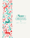 Merry christmas and happy new year greeting card background eps vector file organized in layers for easy editing Royalty Free Stock Image