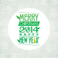 Merry christmas and happy new year greeting card typographic design Stock Images