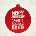 Merry christmas and happy new year greeting card typographic design Royalty Free Stock Photography