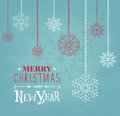 Merry Christmas and Happy new Year lettering design. Vector illustration. Season cards, greetings for social media Royalty Free Stock Photo