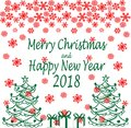 Merry Christmas and Happy New Year. Seasons Greetings.