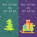 Merry Christmas and Happy New Year. Set of Icons