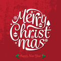 Merry Christmas and Happy new year text free hand design