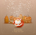 Merry christmas happy new year vector format authors illustration in Royalty Free Stock Photos