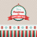 Merry christmas and happy new year vintage greeting card Stock Photos