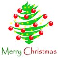 Merry Christmas Happy Tree Royalty Free Stock Photos