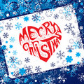 Merry Christmas heart Royalty Free Stock Photo