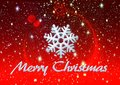 Merry Christmas ice snow and stars, background Royalty Free Stock Photo