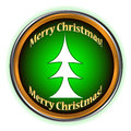 Merry Christmas icon Royalty Free Stock Photography