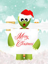 Merry christmas illustration of turtle with sign Royalty Free Stock Photography