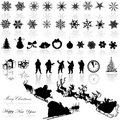 Merry Christmas illustrations Royalty Free Stock Images