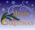Merry Christmas.inscription Royalty Free Stock Photography