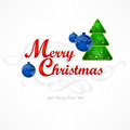 Merry christmas inscription hand lettering vector illustration Royalty Free Stock Photography