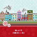 Merry christmas invitation card vector illustration Royalty Free Stock Images