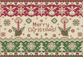 Merry Christmas! Knitted style Stock Image