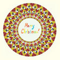 Merry christmas knitting greeting card funny design Royalty Free Stock Images