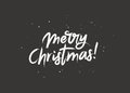 Merry Christmas. Lettering. Brush font