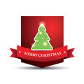Merry christmas lettering tree Stock Photos