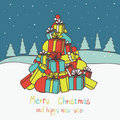 Merry Christmas  and New Year's card Royalty Free Stock Photo