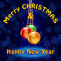 Merry christmas and new year background vector illustration Stock Photos