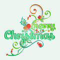 Merry christmas paper art greeting card style Stock Images