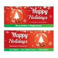 Merry christmas party and glass ball for flyer brochure design o Royalty Free Stock Photo