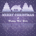 Merry Christmas postcard Stock Photography