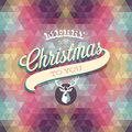 Merry christmas poster vector illustration Royalty Free Stock Photography