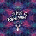 Merry christmas poster vector illustration Stock Photo