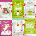 Merry Christmas Posters Royalty Free Stock Photo