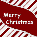 Merry christmas red candy cane torn background with text in the middle Stock Image