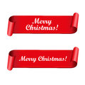 Merry Christmas red ribbon Royalty Free Stock Photo