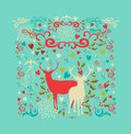 Merry christmas reindeer shape and love icons back reindeers elements composition eps vector file organized in layers for easy Royalty Free Stock Photos