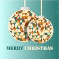 Merry Christmas retro vintage greeting card