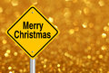 Merry Christmas Road Sign Royalty Free Stock Photo