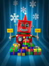 Merry Christmas Robot Royalty Free Stock Photos
