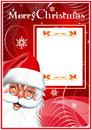Merry Christmas. Santa Claus. Red background Royalty Free Stock Photo