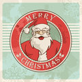 Merry christmas santa vintage postcard Royalty Free Stock Image
