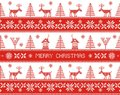 Merry christmas seamless nordic pattern vector illustration Stock Photo