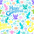 Merry Christmas  seamless pattern Stock Images