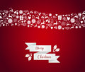 Merry christmas seamless pattern border holidays card wave eps vector file organized in layers for easy editing Stock Image