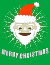 Merry Christmas! Smiling Santa!  / clip art Stock Image